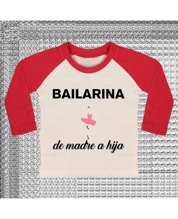 Camiseta Bebé Béisbol Manga Larga Bailarina de madre a hijo por tunetoo