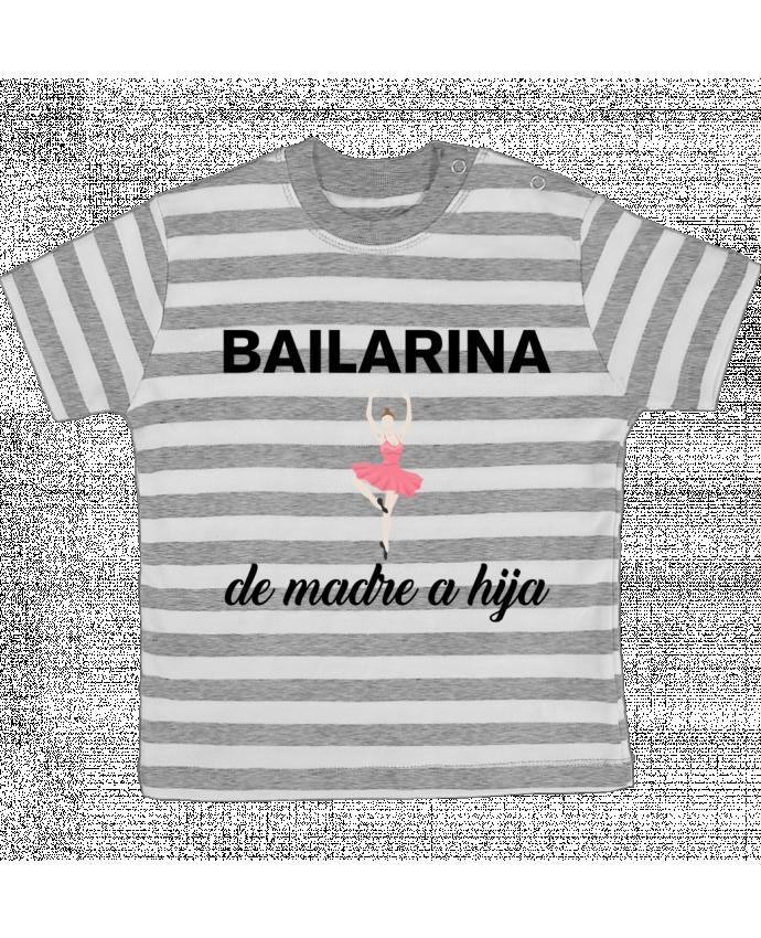 Camiseta Bebé a Rayas Bailarina de madre a hijo por tunetoo