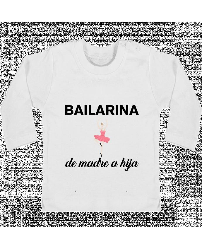 Camiseta Bebé Manga Larga con Botones  Bailarina de madre a hijo manches longues du designer tunetoo