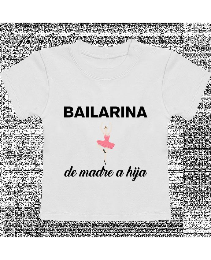 Camiseta Bebé Manga Corta Bailarina de madre a hijo manches courtes du designer tunetoo