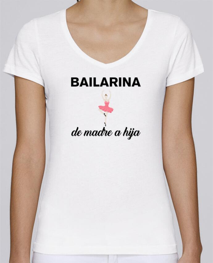 Camiseta Mujer Cuello en V Stella Chooses Bailarina de madre a hijo por tunetoo