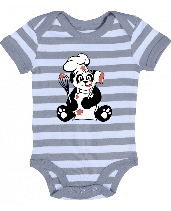 Body Bebé a Rayas Panda Pot'Chef - CoeurDeChoux