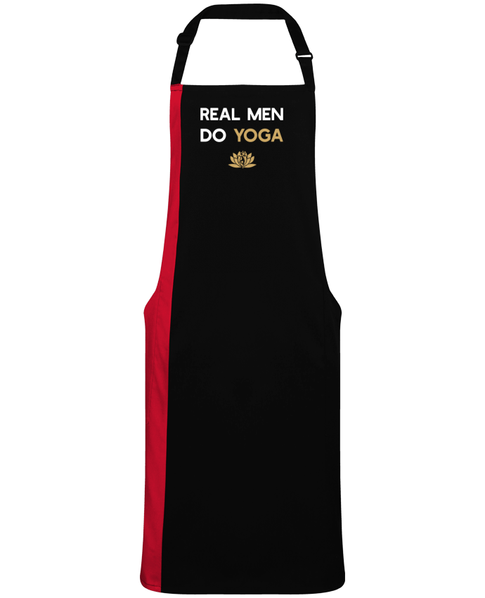 Delantal Bicolor Real men do yoga por  Original t-shirt