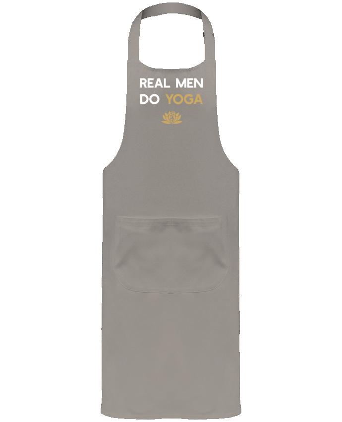 Delantal Jardinero o Somelier con Bolsillo  Real men do yoga por Original t-shirt