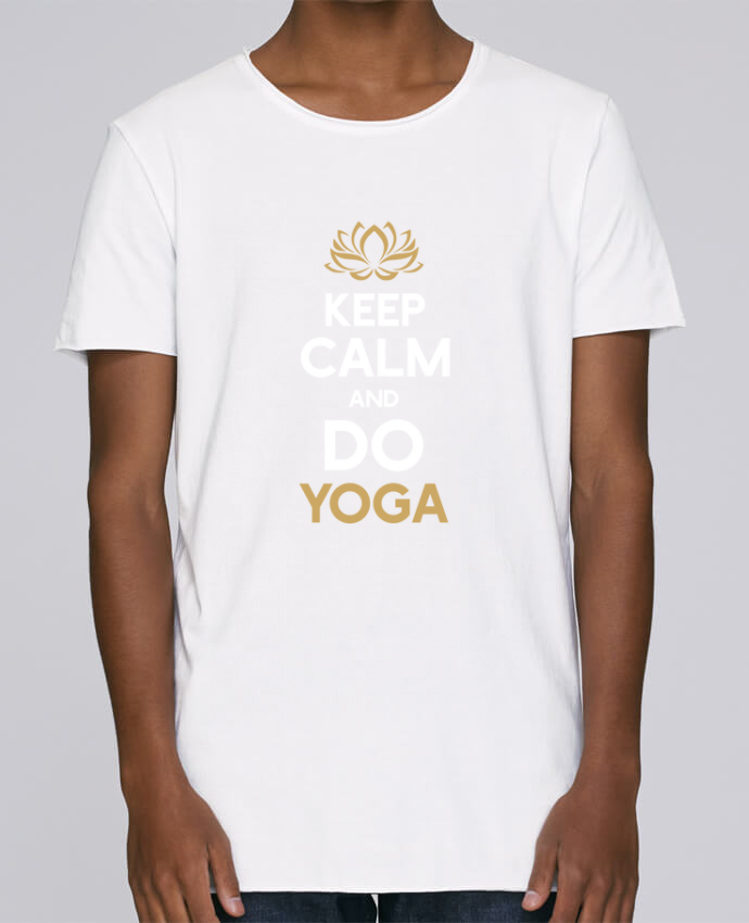 Camiseta Hombre Tallas Grandes Stanly Skates Keep calm Yoga por Original t-shirt