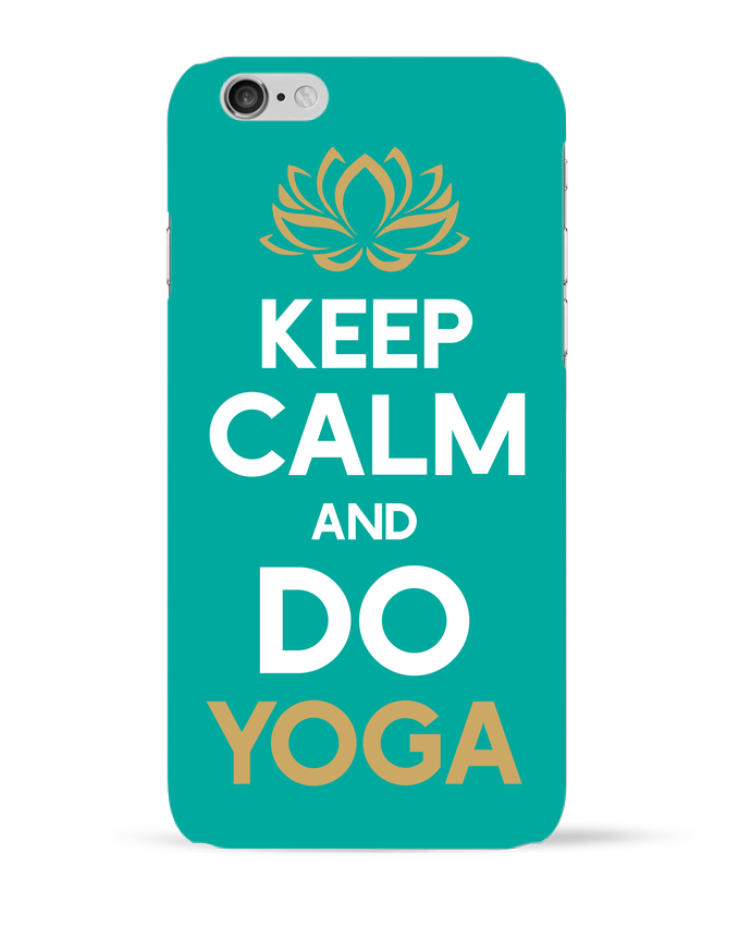 Carcasa  Iphone 6 Keep calm Yoga por Original t-shirt