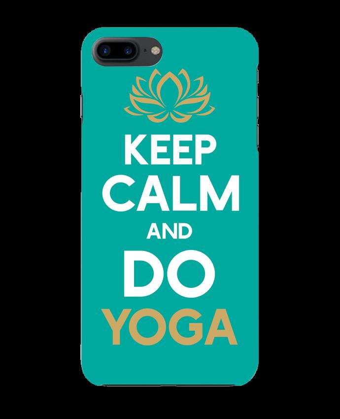 Carcasa Iphone 7+ Keep calm Yoga por Original t-shirt