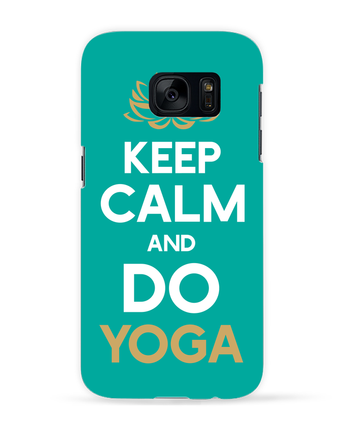 Carcasa Samsung Galaxy S7 Keep calm Yoga por Original t-shirt
