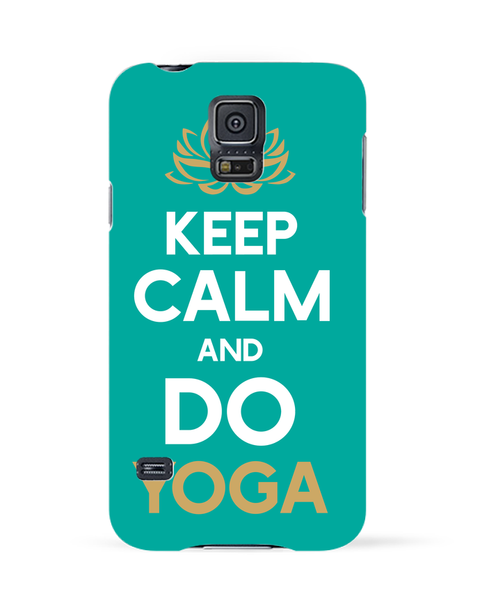 Carcasa Samsung Galaxy S5 Keep calm Yoga por Original t-shirt