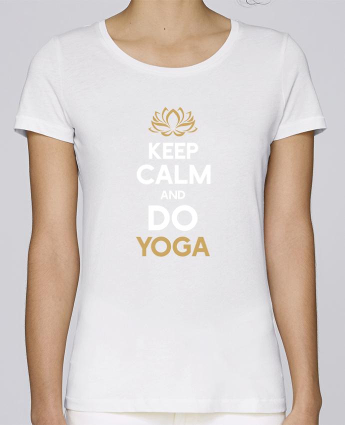 Camiseta Mujer Stellla Loves Keep calm Yoga por Original t-shirt