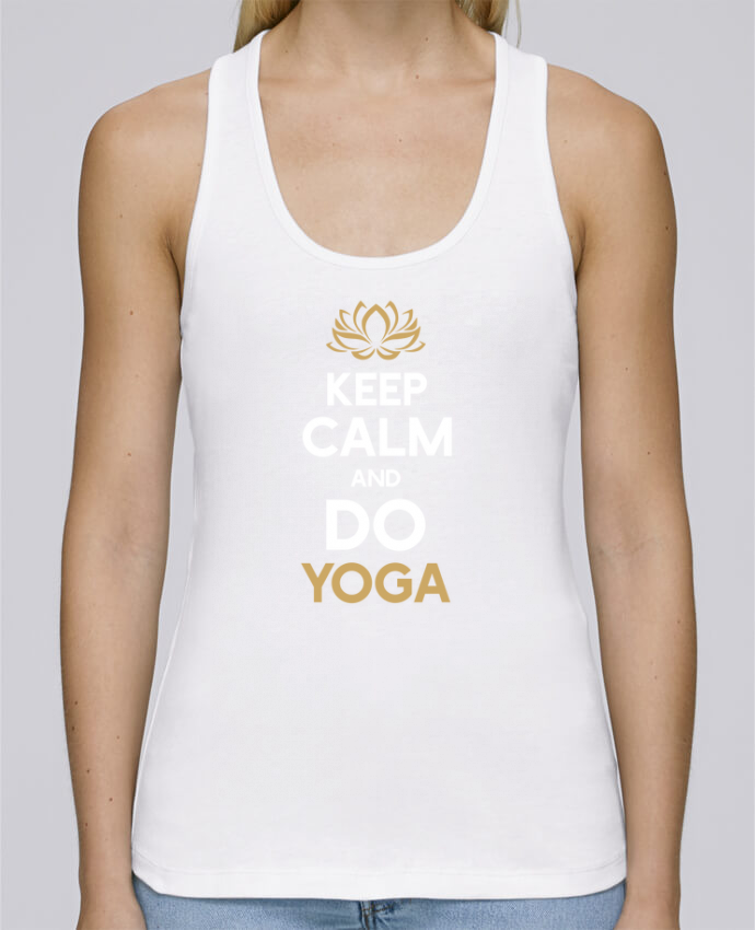Camiseta de tirantes algodón orgánico mujer Stella Dreams Keep calm Yoga por Original t-shirt en coton Bio