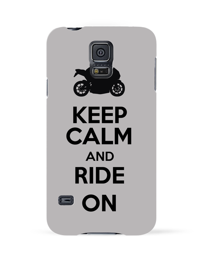 Carcasa Samsung Galaxy S5 Keep calm Moto por Original t-shirt