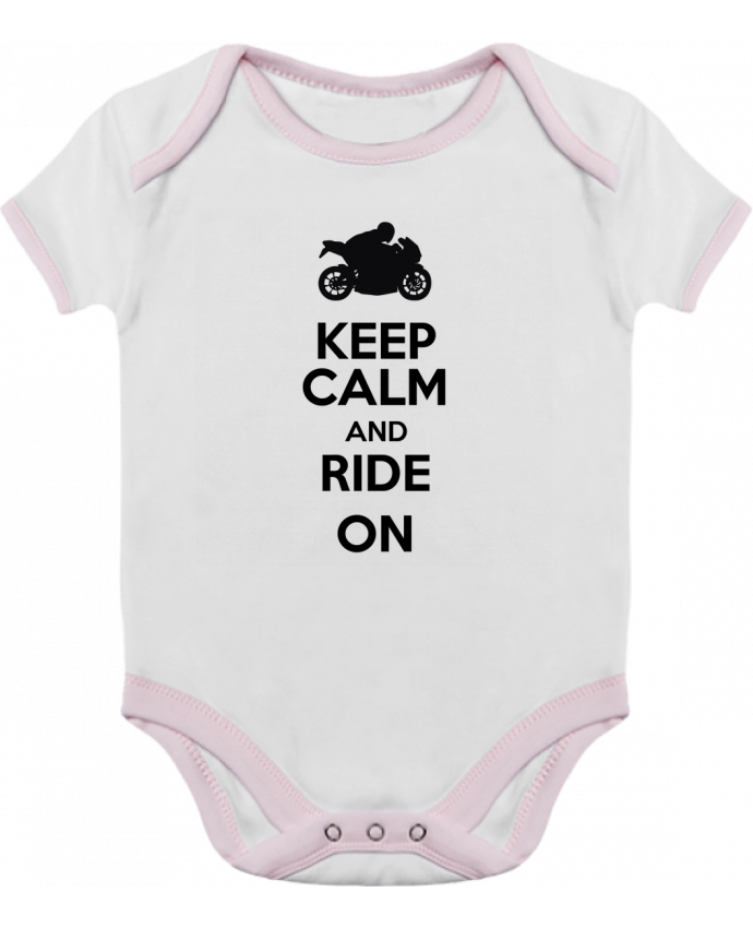 Body Bebé Contraste Keep calm Moto por Original t-shirt