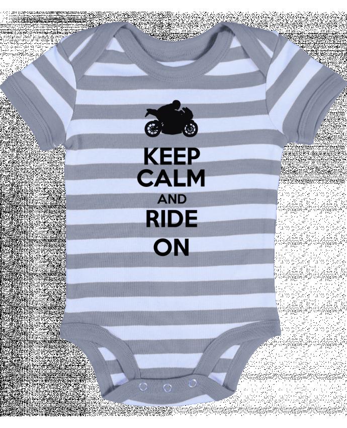 Body Bebé a Rayas Keep calm Moto - Original t-shirt