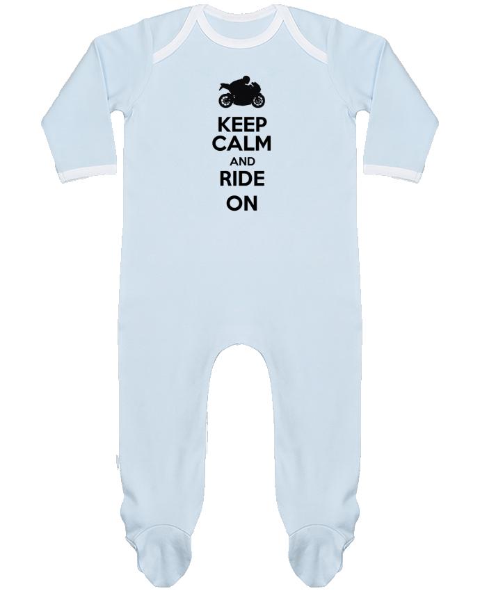 Pijama Bebé Manga Larga Contraste Keep calm Moto por Original t-shirt