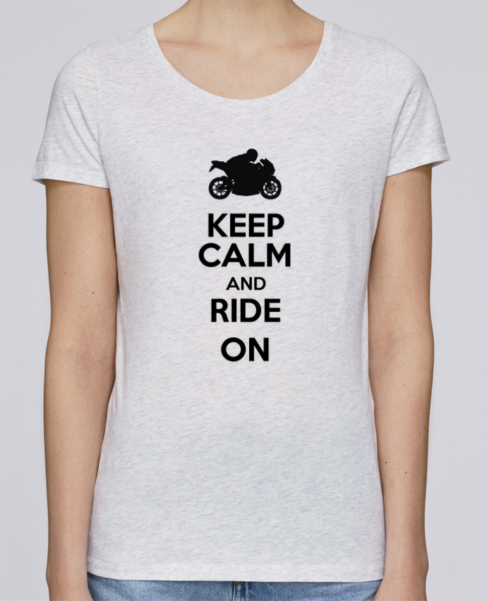 Camiseta Mujer Stellla Loves Keep calm Moto por Original t-shirt