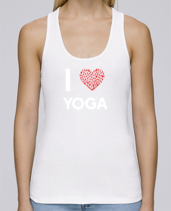 Camiseta de tirantes algodón orgánico mujer Stella Dreams I Love Yoga por Original t-shirt en coton Bio