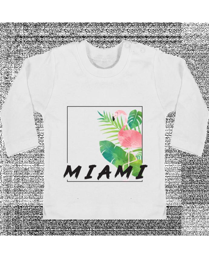 Camiseta Bebé Manga Larga con Botones  Miami manches longues du designer KOIOS design