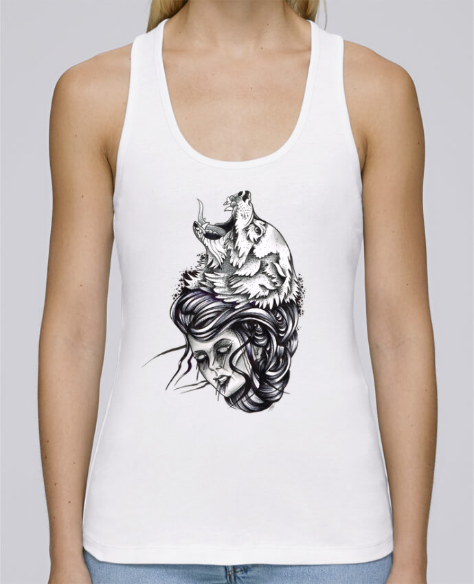 Camiseta de tirantes algodón orgánico mujer Stella Dreams Femme & Loup por david en coton Bio