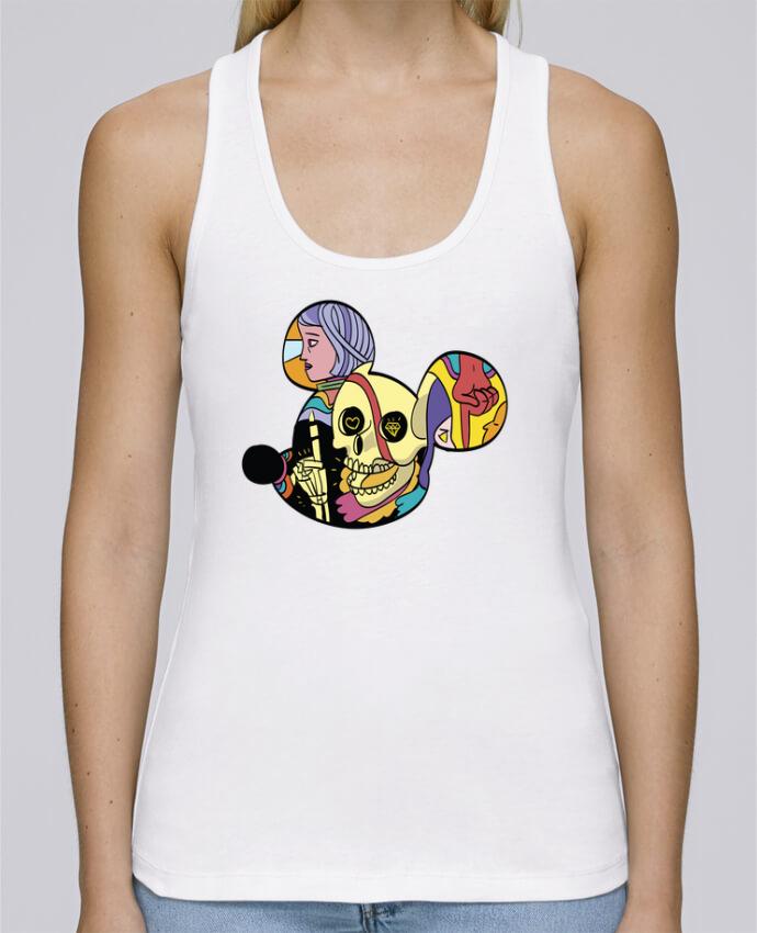 Camiseta de tirantes algodón orgánico mujer Stella Dreams wonderland por Arya Mularama en coton Bio