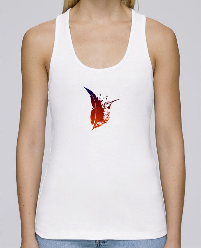 Camiseta de tirantes algodón orgánico mujer Stella Dreams plume colibri por Studiolupi en coton Bio