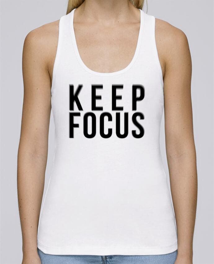 Camiseta de tirantes algodón orgánico mujer Stella Dreams KEEP FOCUS por tunetoo en coton Bio