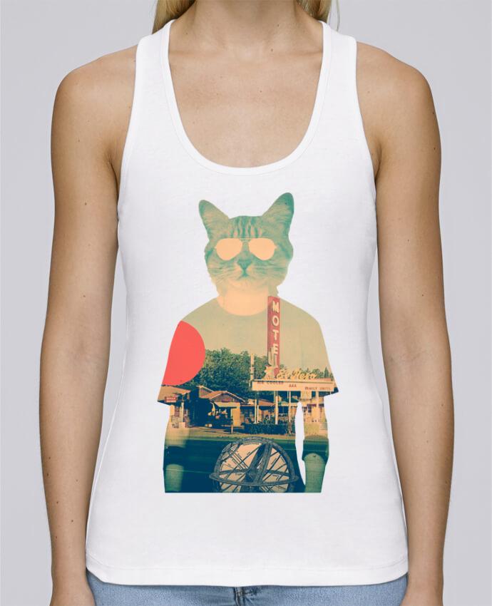 Camiseta de tirantes algodón orgánico mujer Stella Dreams Cool cat por ali_gulec en coton Bio