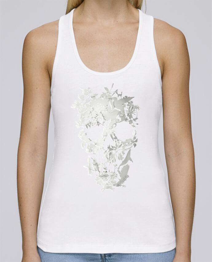 Camiseta de tirantes algodón orgánico mujer Stella Dreams Simple Skull por ali_gulec en coton Bio