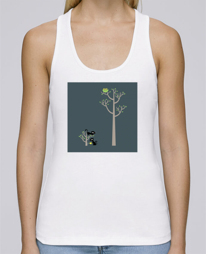 Camiseta de tirantes algodón orgánico mujer Stella Dreams Growing a plant for Lunch por flyingmouse365 en coton Bio