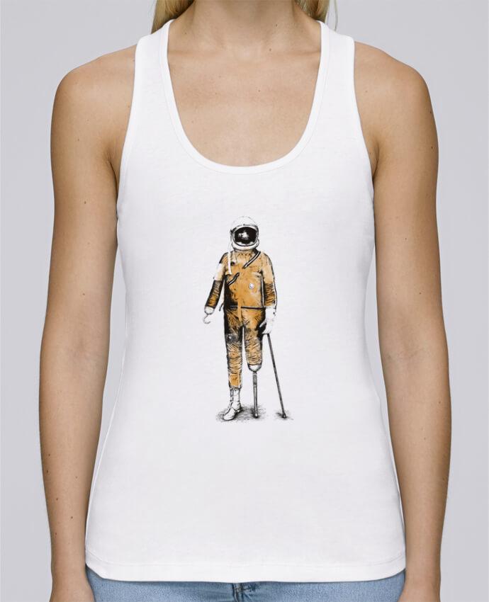 Camiseta de tirantes algodón orgánico mujer Stella Dreams Astropirate por Florent Bodart en coton Bio