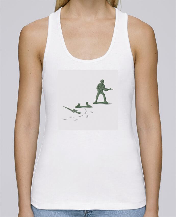 Camiseta de tirantes algodón orgánico mujer Stella Dreams Deserter por flyingmouse365 en coton Bio