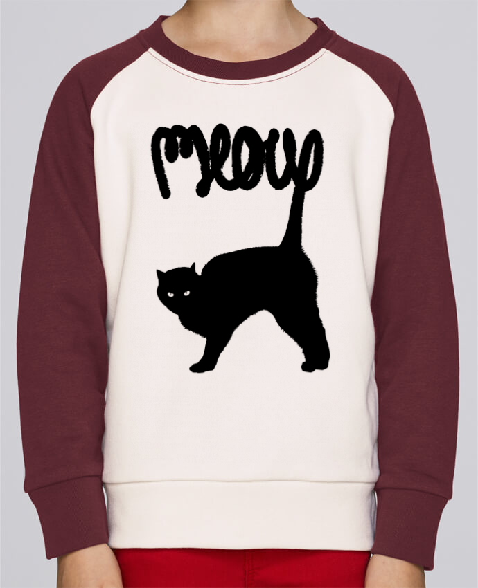 Sweat petite fille Meow por Florent Bodart