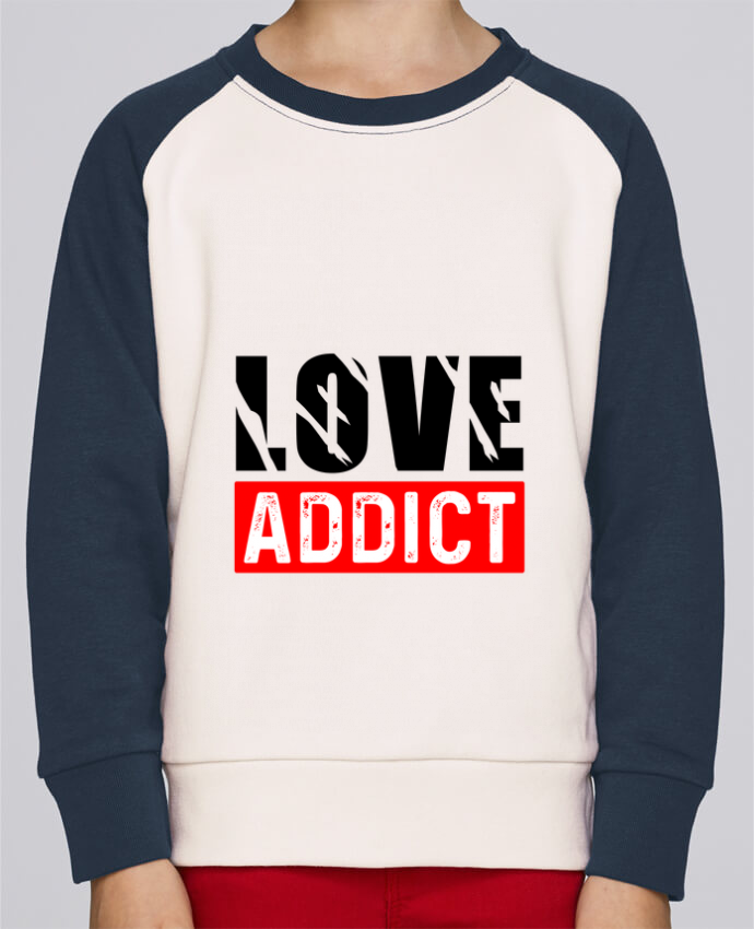 Sweat petite fille Love Addict por Sole Tshirt