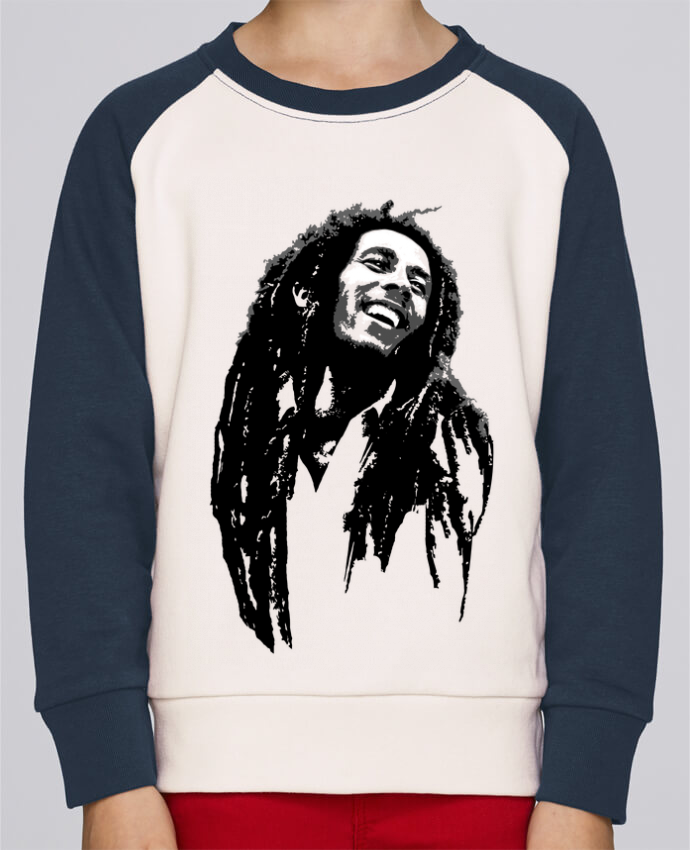 Sweat petite fille Bob Marley por Graff4Art