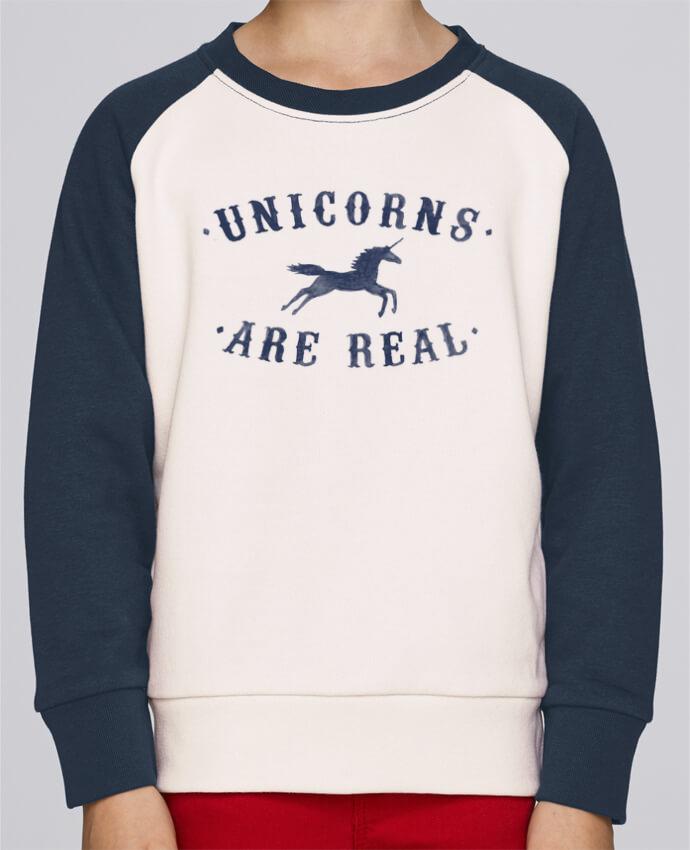 Sweat petite fille Unicorns are real por Florent Bodart