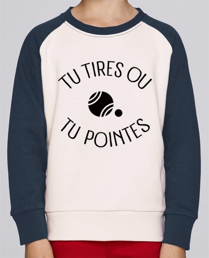 Sweat petite fille Tu Tires Ou Tu Pointes por Freeyourshirt.com