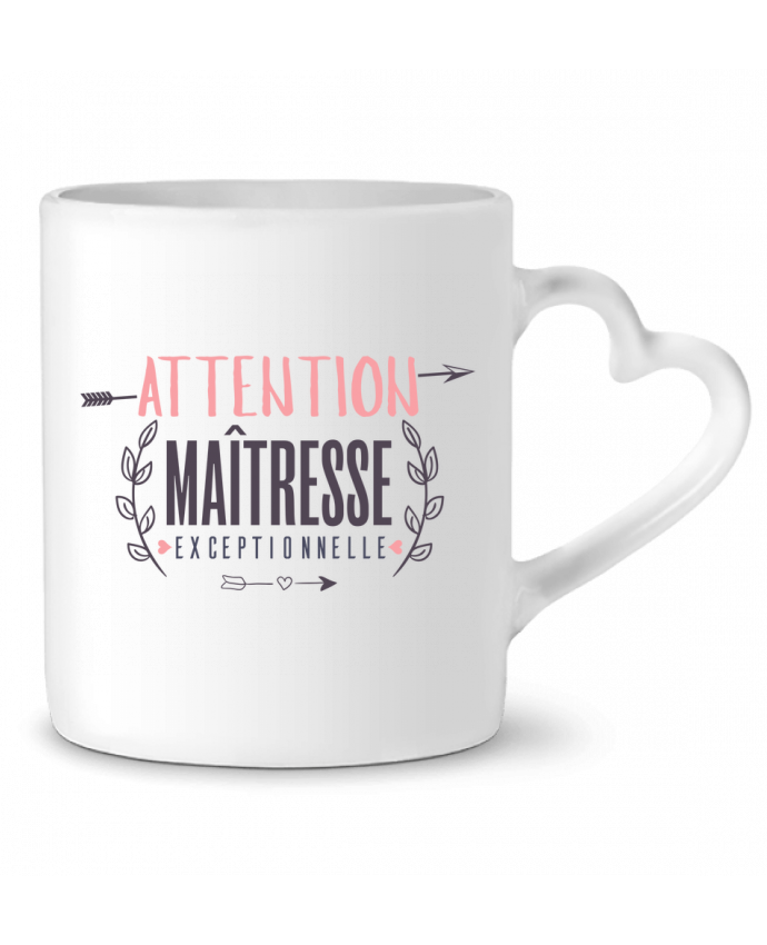 Taza Corazón Attention maîtresse exceptionnelle por tunetoo
