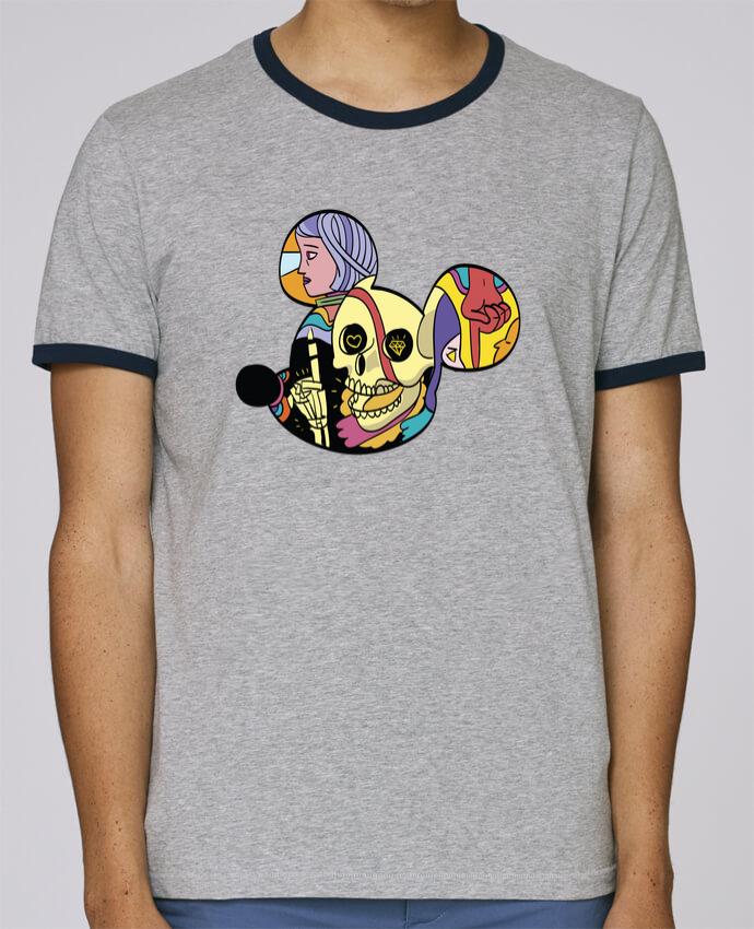 Camiseta Bordes Contrastados Hombre Stanley Holds wonderland pour femme por Arya Mularama