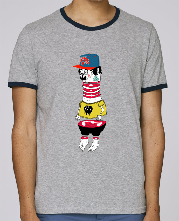 Camiseta Bordes Contrastados Hombre Stanley Holds Chopsuey pour femme por Nick cocozza