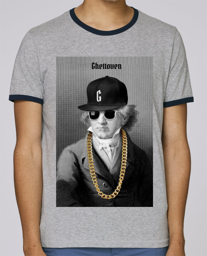 Camiseta Bordes Contrastados Hombre Stanley Holds Ghettoven pour femme por Ads Libitum