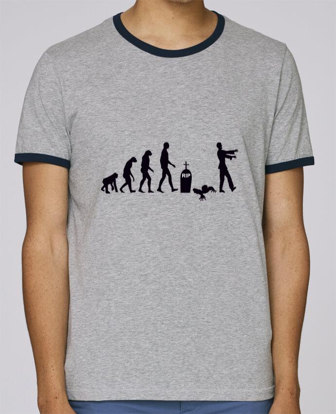 Camiseta Bordes Contrastados Hombre Stanley Holds Zombie évolution pour femme por Benichan