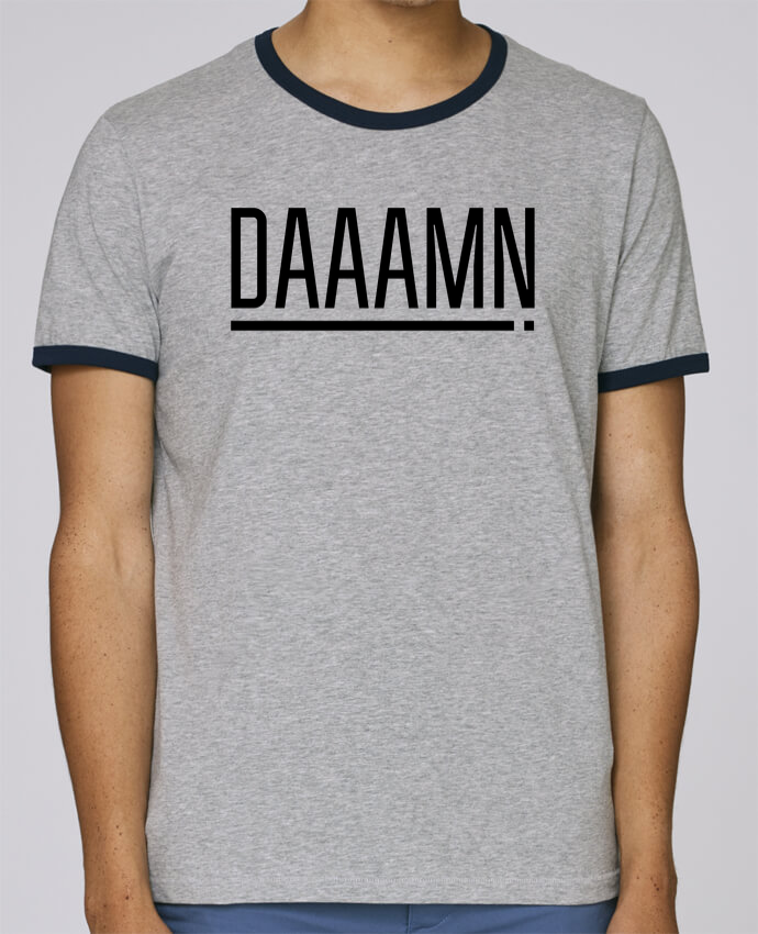 Camiseta Bordes Contrastados Hombre Stanley Holds Daaamn ! pour femme por tunetoo