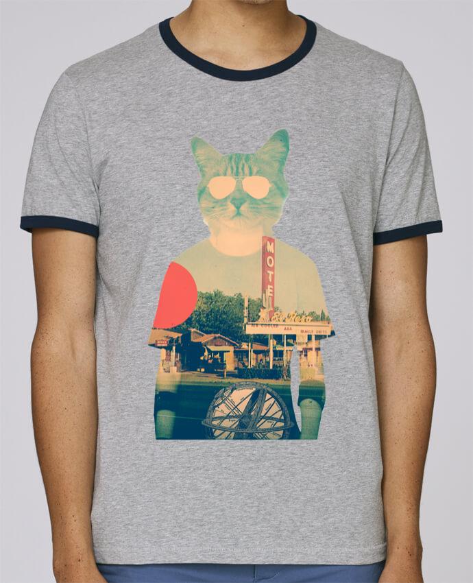 Camiseta Bordes Contrastados Hombre Stanley Holds Cool cat pour femme por ali_gulec
