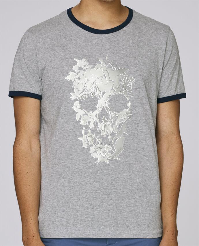 Camiseta Bordes Contrastados Hombre Stanley Holds Simple Skull pour femme por ali_gulec