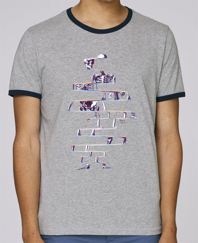 Camiseta Bordes Contrastados Hombre Stanley Holds Skeleton pour femme por ali_gulec