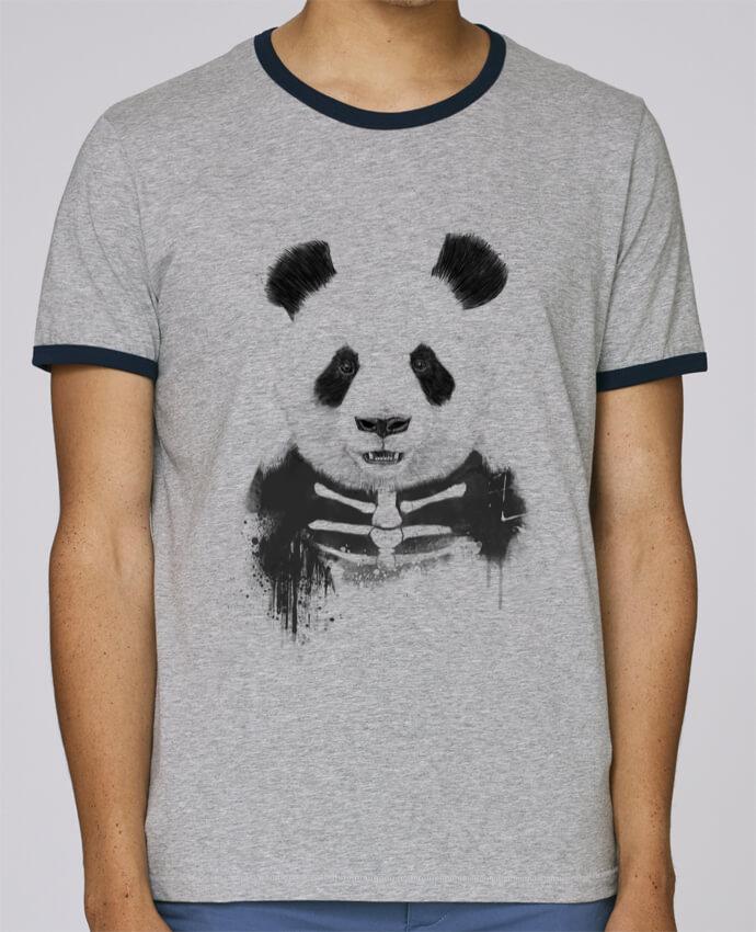 Camiseta Bordes Contrastados Hombre Stanley Holds Zombie Panda pour femme por Balàzs Solti
