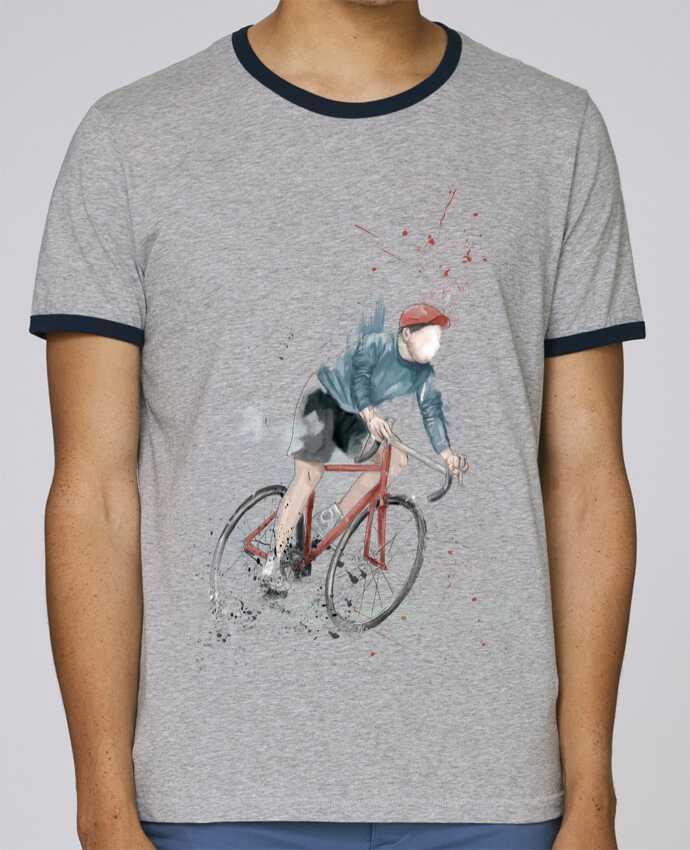Camiseta Bordes Contrastados Hombre Stanley Holds I want to Ride pour femme por Balàzs Solti