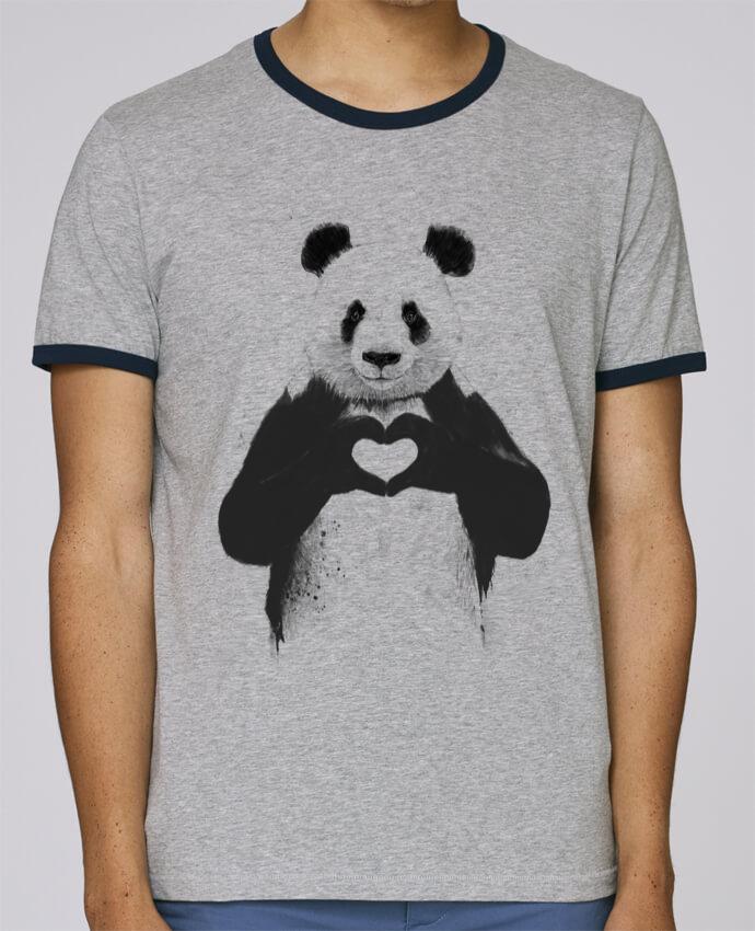 Camiseta Bordes Contrastados Hombre Stanley Holds All you need is love pour femme por Balàzs Solti