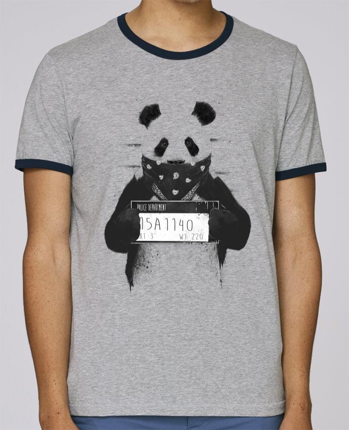 Camiseta Bordes Contrastados Hombre Stanley Holds Bad panda pour femme por Balàzs Solti