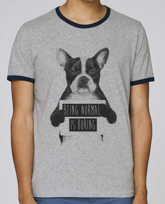 Camiseta Bordes Contrastados Hombre Stanley Holds Being normal is boring pour femme por Balàzs Solti